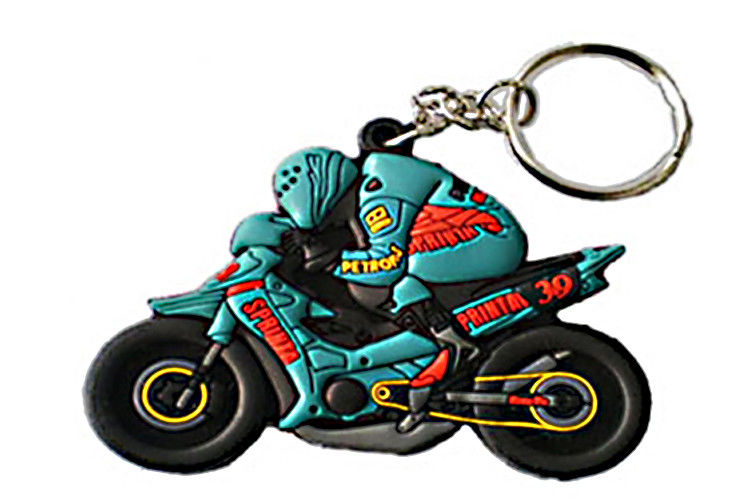 Light Weight Soft PVC Keychain , Custom PVC Keyrings Excellent Durability