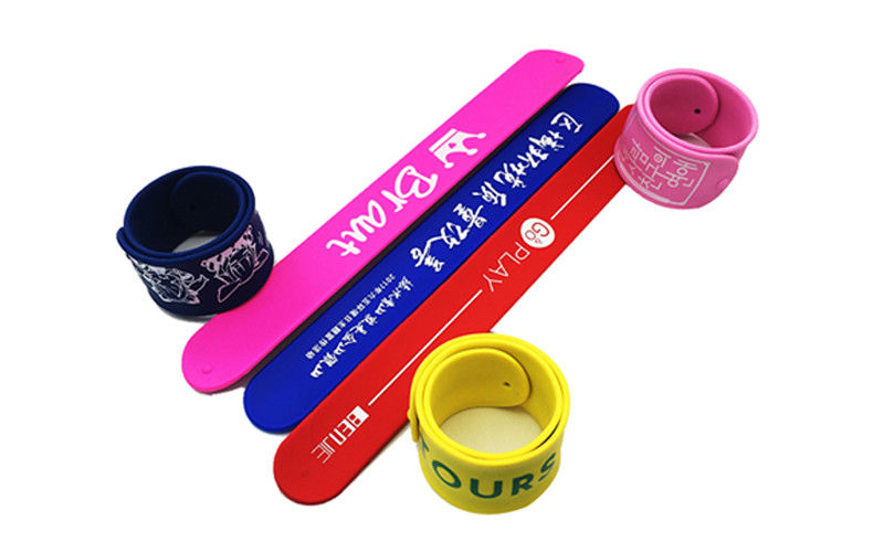 Light Weight Silicone Slap Wristband Silk Screen Logo Processing Magnetic Clap Bands