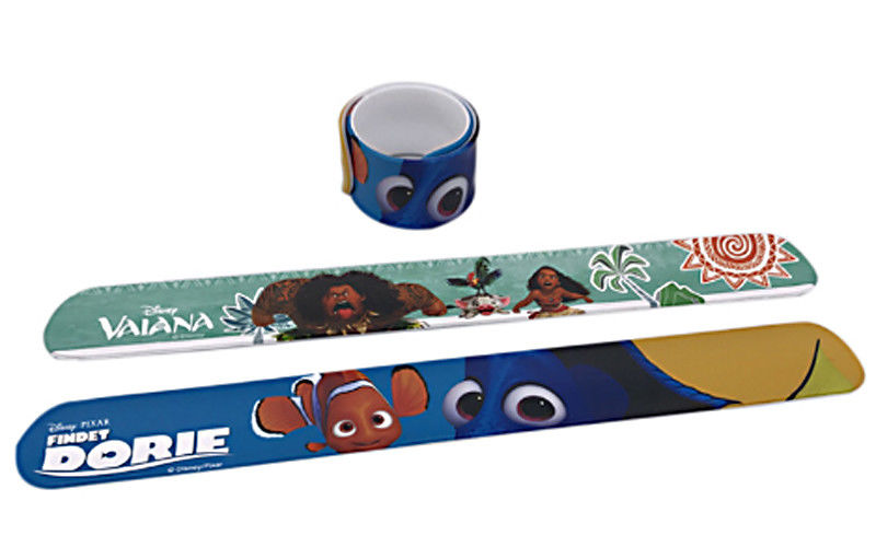 PMS Colors Rubber Slap Bracelets Animal Cartoon Pattern 25mm / 30mm Width