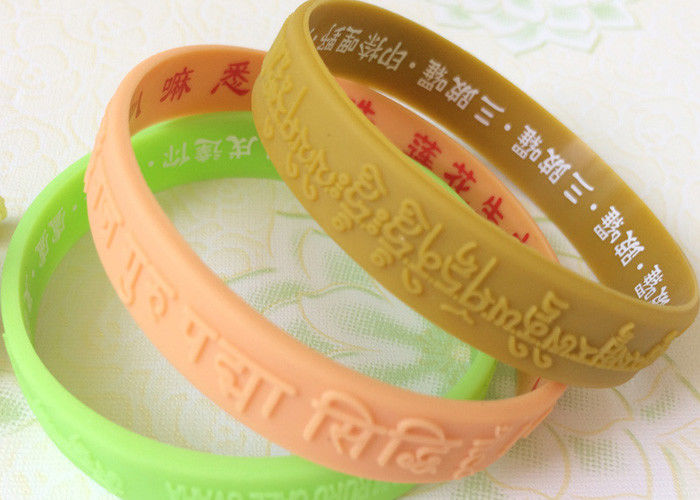 Logo Text Embossed Custmozied Advertising Man Silicone Rubber Wristbands